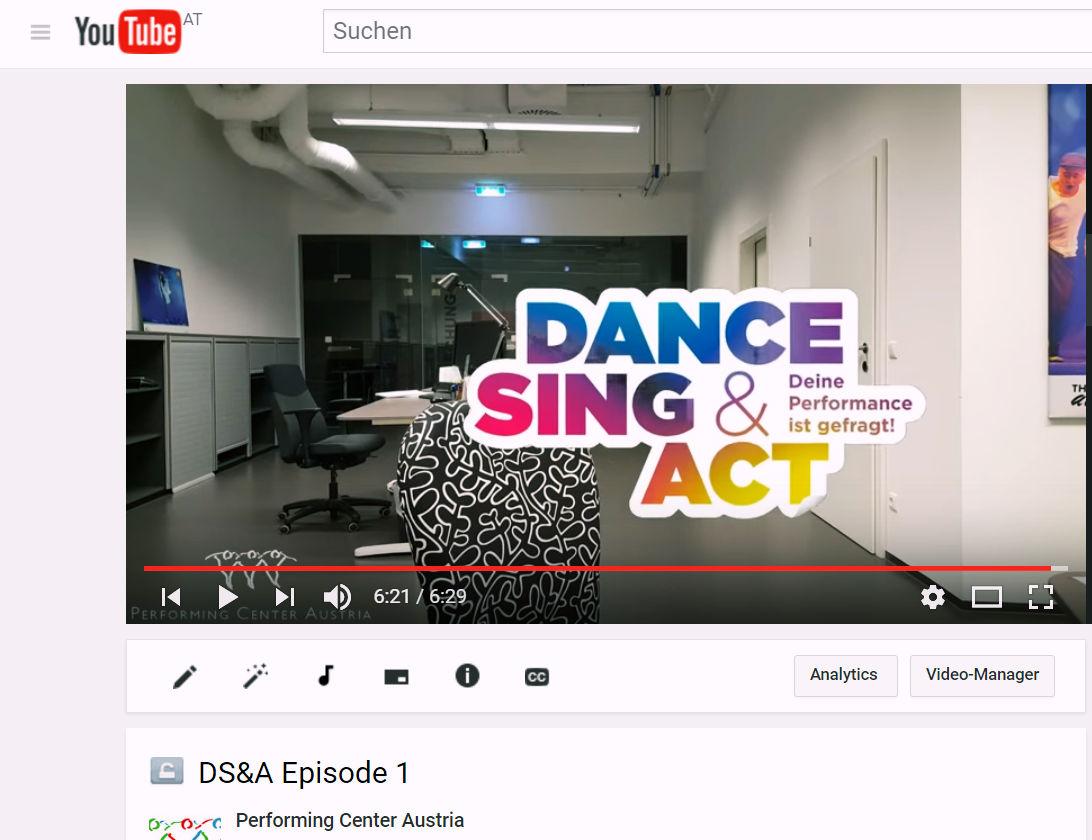 neuer dance sing act vlog performing center austria. Black Bedroom Furniture Sets. Home Design Ideas